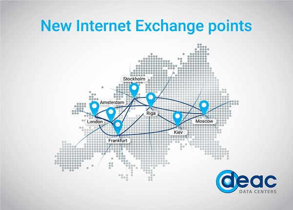 New Internet Exchange IX locations in Europe, Russia and Baltic States DEAC